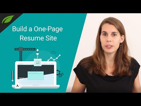 How to Build a One-Page Resume Website