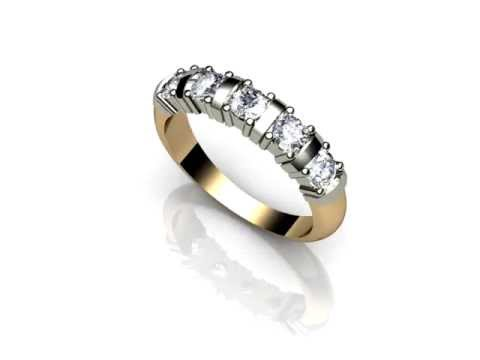 Moissanite 18ct Gold 1 Carat Eternity Ring | R5019/100