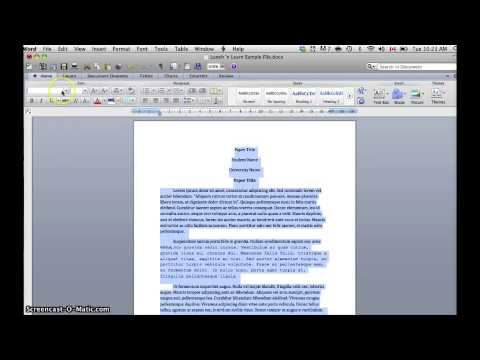 Changing Font in Entire Document in Word 2010 (Mac)