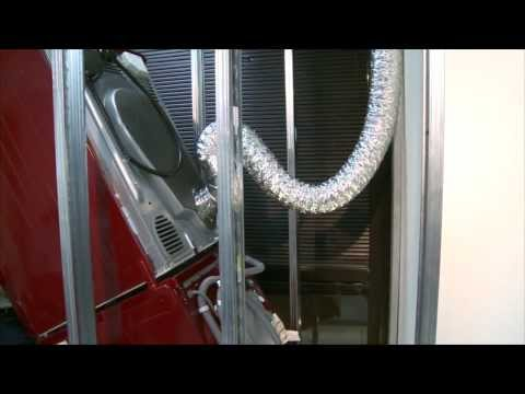 How the Pan Stand eliminates crushed venting problem for stacked dryers