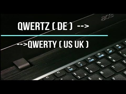 How to change QWERTZ to QWERTY keyboard
