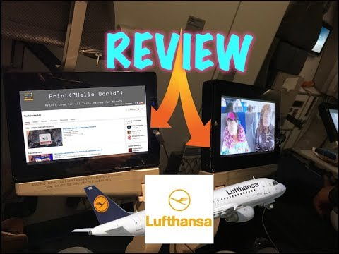 Lufthansa Airline Tablet Review 35,000ft in Air