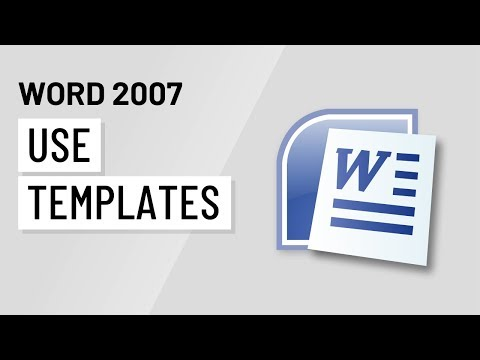 Word 2007: Using Templates