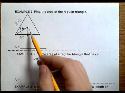 Geometry (Topic 1-2) Areas of Regular Triangles