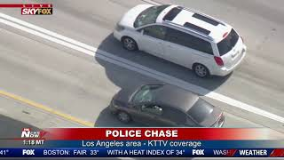 POLICE PURSUIT: Chase through southern California ends with dog nabbing suspect