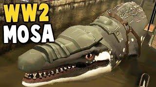 Dino D-Day - WW2 NAZI MOSASAURUS, NAZI DINOSAURS KILL EVERYONE - Dino D-Day Gameplay