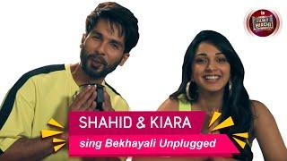 Shahid Kapoor & Kiara Advani sing Bekhayali Unplugged | Rapid Fire | Mirchi Jeeturaaj | Kabir Singh