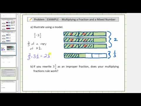 Model the Product of a Fraction and Mixed Number Using Fraction Bars