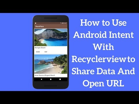 How to Use Android Share Intent With Recyclerview to Share Data And Open URL (Explained)