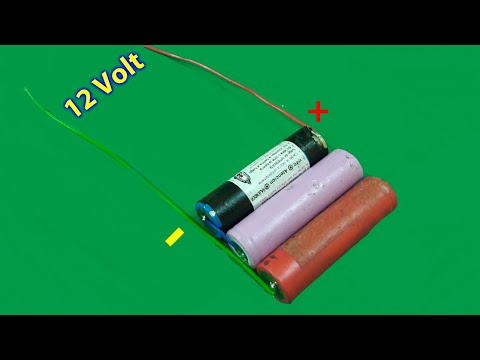 How to make 12v Lithium ion Battery