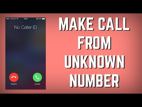 How to Make Call from UNKNOWN NUMBER | Call Someone As A Different Number