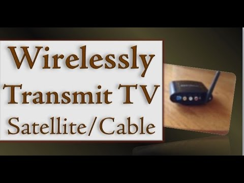 How to Install a Wireless TV Satellite & Cable Audio Video Transmitter to Save Money