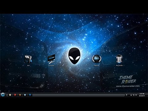 Alienware dark skinpack for win7 skinpack customize your.