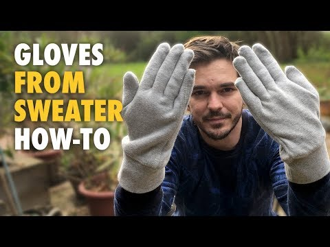 Comfy Gloves From Old Sweater - How-to - Easy DIY Project
