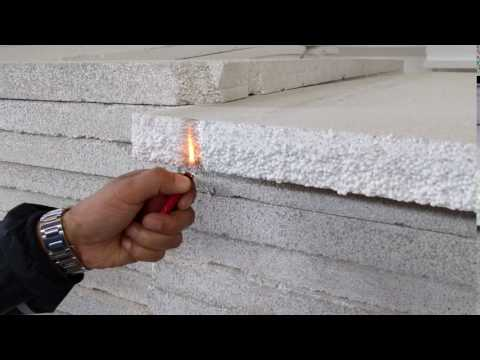 Expanded polystyrene foam (EPS) can be fire proof.
