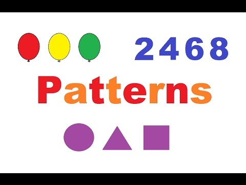 Learning Patterns with Colors, Shapes, and Numbers