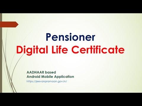 Pension Digital Life Certificate जीवन प्रमाण पेंशनर