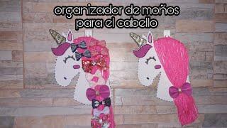 Organizador De Moños Para El Cabello Unicornio