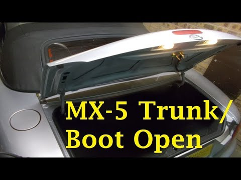How do you open the boot on a Mazda MX5?