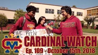 Cardinal Watch: ep. 109 - October 15th, 2018