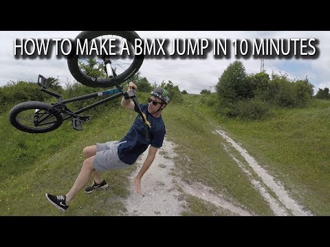 HOW TO MAKE A BMX JUMP IN 10 MINUTES WITH THE INTERNATIONAL BAD BOY!!