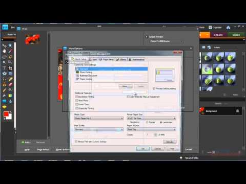 Photoshop Elements - How to use printer color profiles with Photoshop Elements Canon