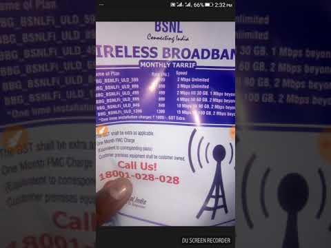 Bsnl wireless broadband plan updated