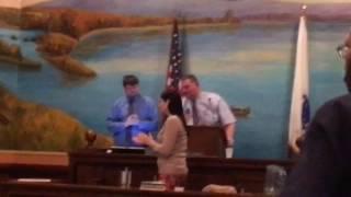 Holyoke City Council Presjdent Kevin Jourdain announces he won