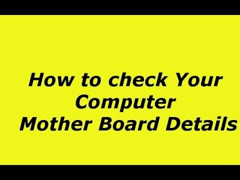 Check all Information about Motherboard Model, CPU, RAM, Graphics, Bench, SPD Easy