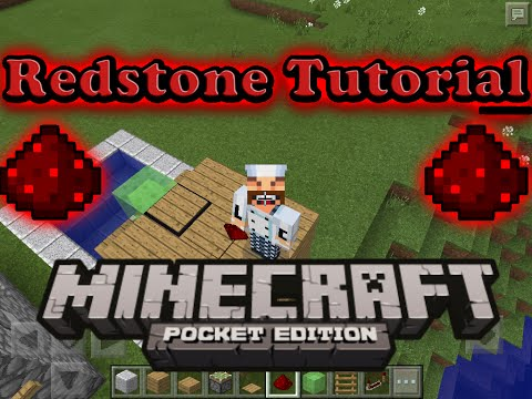 Mcpe Redstone Tutorial -Slime Block Diving Board!- Minecraft PE 0.15.3