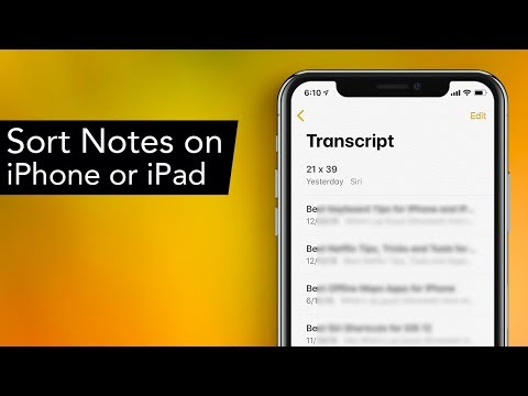 How to Sort Notes on iPhone or iPad by Name, Title or Date