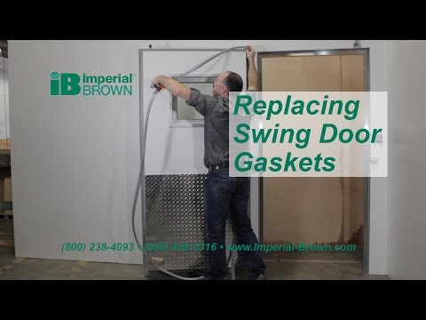 How to Replace a Swing Door Gasket on a Walk-in Cooler