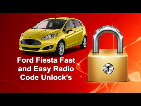 How To Unlock Ford Fiesta Radio Code Serial 6000CD/4500/6006CD