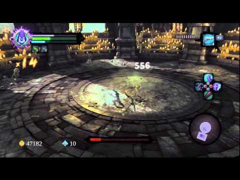 Darksiders 2 - PS3 - The Bone Keeper & Bone Giant Boss Fight ( Apocalyptic )