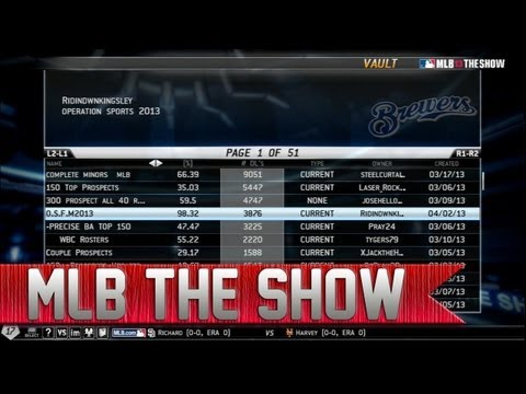 MLB 13 The Show | How to Get Real Minor League Players