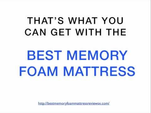 How To Choose The Best Memory Foam Mattress For A GOOD Night's Sleep!