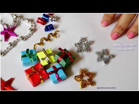 Christmas ornaments || 3 easy mini christmas ornaments diy