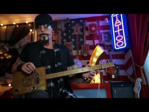 How to play Runaway Train Instructional cigar box guitar