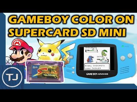 Play GBC Rom's On GameBoy Advance (Supercard SD Mini)