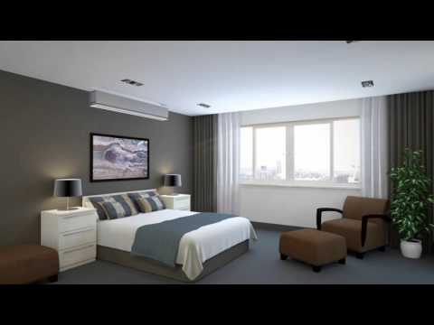 Ducted Air Conditioner in a Bedroom Animation