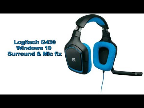 Logitech G430 Windows 10 Fix