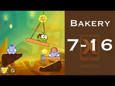Cut the Rope 2 Walkthrough - Bakery 7-16 - 3 Stars + Medal