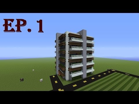 How to Build a Modern Apartment Complex in Minecraft - Part 1