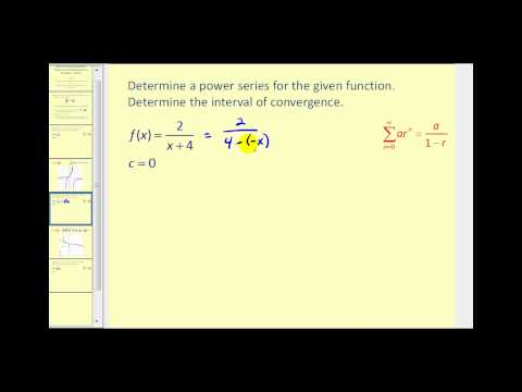 Representing a Function as a Geometric Power Series - Part 1