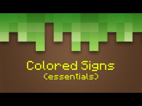 How to make Colored Signs with Essentials!