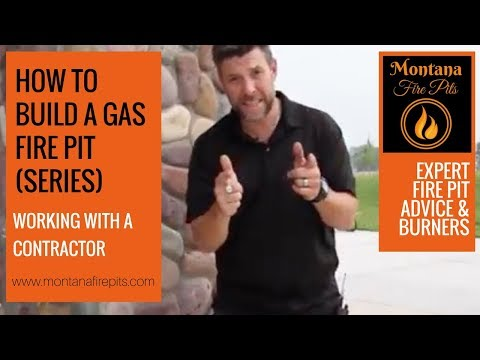 How to build a Gas Fire Pit - working with contractors - Montana Fire Pits