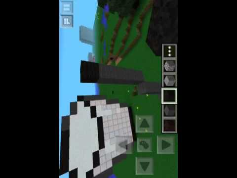 How to build a milk bucket with blocks in mcpe