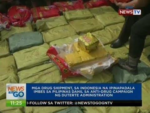 Mga drug shipment, sa Indonesia na ipinapadala imbes Pilipinas dahil sa anti-drug campaign