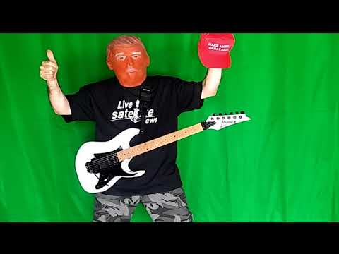 Green Screen Chroma Key Donald Trump Playing Guitar Effect - Free to Use