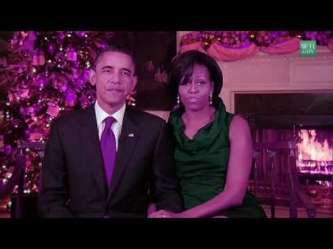 Merry Christmas! Michelle & Barack Obama New Year greetings from The President family to yours